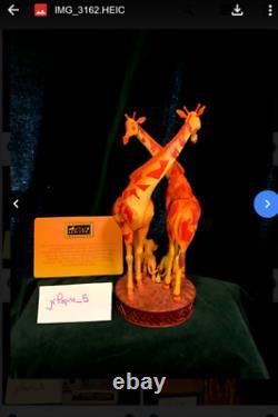 Lion King 25ème Anniversaire Figurine Disney Le 650 Sculpture Coa & Box Girafe