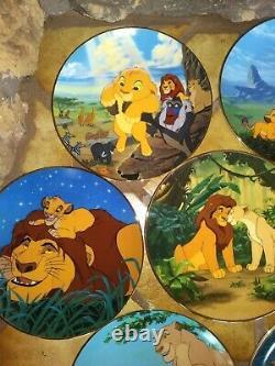 Lion King, Ensemble Complet De 12 Plaques Bradex L. E. Disney Bradford 1994, Nouveau, Menthe