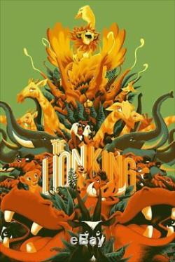 Lion King Mondo Disney R2017 Variante Imprimée 200 Matt Taylor 24x36