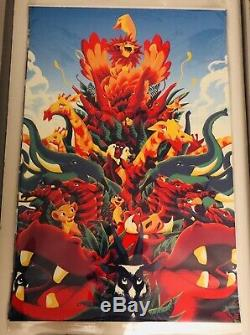 Lion King Mondo Disney Tirage Limité À 200 Exemplaires De Matt Taylor 24x36 Var