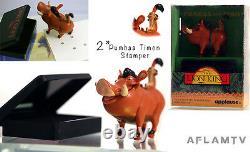 Lion King Set 3 Pvc Figure Stampers Applause Disney Simba Rafiki Pumba Timon