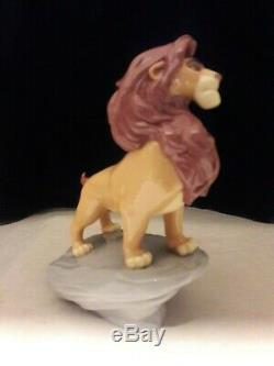 Lladro, Le Roi Lion, Simba Disney, # 9112, Brand New, Mint & Box, Free Usps Navire