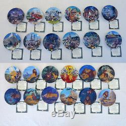 Lot Twenty Four Énorme (24) Plaques Disney Avec Lion King & Disneyland, Coa Box Xlnt