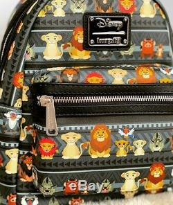 Loungefly Disney Le Roi Lion Mini & Full Sac À Dos Imprimé Tribal Simba Et Nala Nwot
