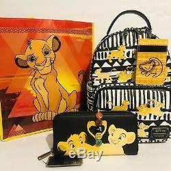 Loungefly Disney Le Roi Lion & Nala Sac À Dos, Porte-monnaie, Sac Fourre-tout Longe &