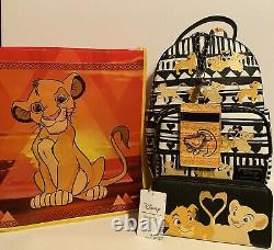 Loungefly X Disney Le Roi Lion Simba & Nala Sac À Dos, Portefeuille & Lanyard