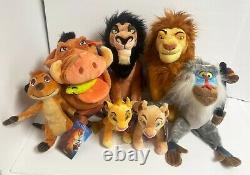 Magasin Disney 2020 Lion King Scar Mufasa Pumbaa Timon Rafiki Simba Nala Plush Set