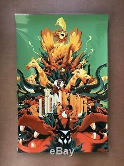 Matt Taylor Le Roi Lion Print Art Variante Disney Mondo Cyclope Affiche Du Film
