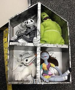 Nightmare Before Christmas Ensemble De 4 Poupées En Peluche Jack Skellington Sally Oogie Zero