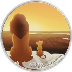 Niue 2019 4x1 Oz Silver Proof Coin Set- Disney Le Roi Lion