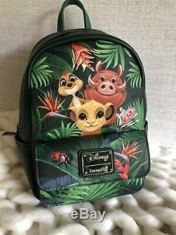 Nouveau Avec Les Étiquettes! Loungefly Disney Le Roi Lion Tropical Mini Sac À Dos