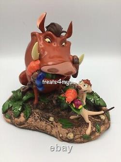 Nouveau! Disney Parks Timon Et Pumbaa Figure The Lion King 8 Statue Derek Lesinski