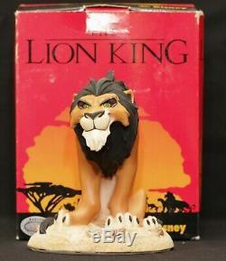 Nouveau Extrêmement Rare! Walt Disney Statue Figurine Peinte À La Main Par Le Roi Lion