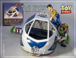 Nouveau Toy Story Buzz Lightyear Voix Space Explorer Vaisseau Spatial Disney Thinkway Jouets