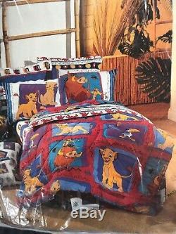 Nouveau Vintage Lion King Wamsutta Full Size 4 Pièces Ensemble De Draps Disney Nos Pni