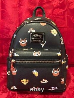 Nwot Disney Loungefly Lion King Mini Sac À Dos Simba Mini Heads Retired