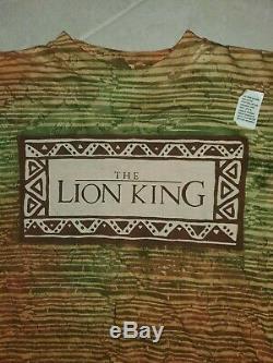 Nwot Vintage 90 Disney Le Roi Lion All Over Imprimer Film Promo T-shirt Simple
