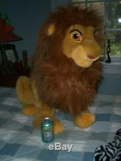 Officiel Disney Adult Simba Mufasa 32 Grand Peluche Le Roi Lion Jouet Euc
