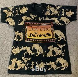 Original Disney Le Roi Lion Vintage Promo T-shirt XL Film Disney Fits Rare