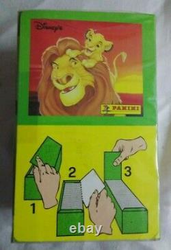 Panini Wholesale Disney (lion King) 1994 6 X Boîtes Scellées Chacune 100 Paquets Rares