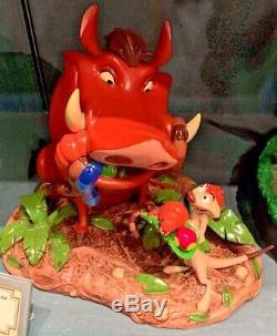 Parcs Disney Exclusive La Figure Moyenne Timone Et Pumbaa Du Roi Lion Nouveau