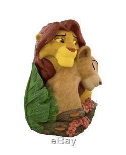 Parcs Disney Simba & Nala Roi Lion Grand Figure Moyenne Résine Nouveau Avec La Boîte