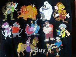 Pins Disney Fantasy Lot Collection Roi Lion Peter Pan Merln Et Plus Rescuers
