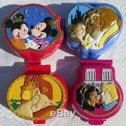 Polly Pocket 100% Disney Belle Et La Bête, Le Roi Lion Mickey Mouse Notre-dame