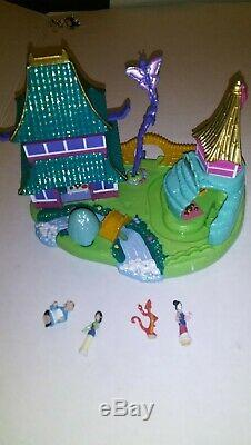 Polly Pocket Disney Lot Blanche Neige Mulan Brave Journey Roi Lion Pocahontas Nice