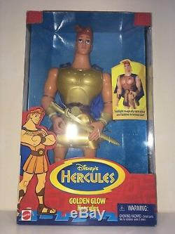 Poupée Disney Hercules Extrêmement Rare Golden Glow Hercules Mattel