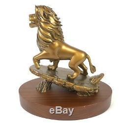 Prix disney Cast Member Service Award 20 Ans De Figurine Simba Lion King Bronze