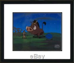 Promenade Nocturne De Timon Pumba Disney Production Originale Cel Cels Le Roi Lion Encadré Cert