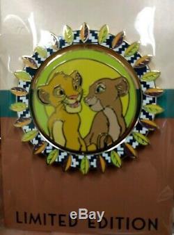 Rare Disney Employé Centre Décembre Roi Lion Complet 5 Pin Set 250 Le Nouveau Cluster