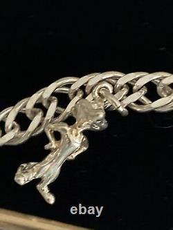 Rare Disney Le Roi Lion 925 Argent Sterling 5 Bracelet De Charme