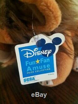 Rare Disney Le Roi Lion Japon Sega Scar Collector Peluche