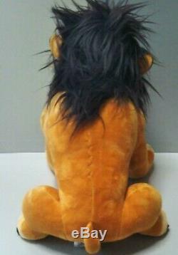 Rare! Disney Le Roi Lion Scar Peluche Poupée Animaux Hauteur 26cm Au Sujet Utilisé