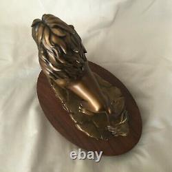 Rare Disney Le Roi Lion Simba Figure Pride King Figurine Statue En Bronze Métal