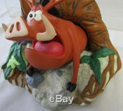 Rare Disney Le Roi Lion Timend & Pumbaa Serre-livres Ensemble Statue Figural Nouveau En Boîte
