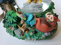 Rare Disney Lion King'i Ne Peut Pas Attendre D'être King' Musical Snow Globe, 7 Tall