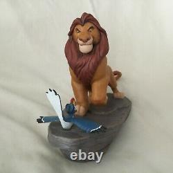 Rare Disney Lion Roi Mufasa The King & Zazu Figures Statue Figurines