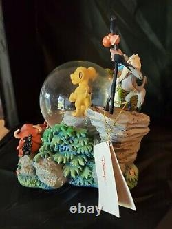 Rare Disney Store Roi Lion Et Ses Amis Snowglobe In Box Simba Rafiki Exce