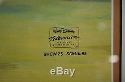 Rare Disney Tv D'animation Cel Kilimanjaro Oiseau Le Roi Lion Timon & Pumbaa
