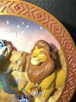 Rare! Disney's Store Limited Edition The Lion King 3d Collector Plate 3959/5000