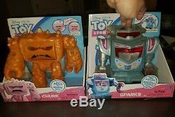 Rare Jouets Thinkway Disney Pixar Toy Story 3 Sparks Robot Et Chunk 8
