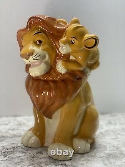 Rare Lion King Cookie Jar Simba Et Mufasa Westland Disney Cookie Jar