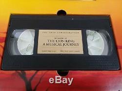 Rare Lion King Limited Académie Cadeaux, Set Disney Media, Vhs + CD Affichage