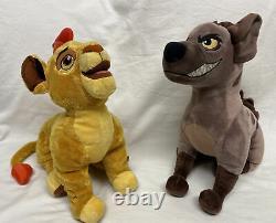 Rare Lot De 2 Janja Hyena & Kion 14 Plush Étouffé Lion Garde Disney Store