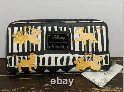 Rare Loungefly Disney Le Roi Lion Simba & Nala Wallet T.n.-o.