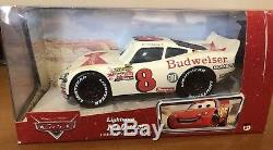 Rare Nib Voitures Disney Lightning Mcqueen, Dale Earnhardt Jr Bud Racing Livery 124