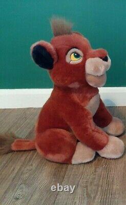 Rare Vintage Disney Store Kovu En Peluche Salon Peluche Le Roi Lion 2 (simba)